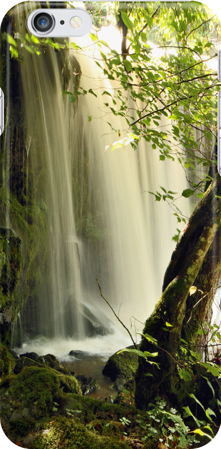 Waterfall, Brecon National Park Wales 2 iPhone case by LisaRoberts