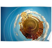Ruzhany Castle Planetary Panorama Revisited Poster