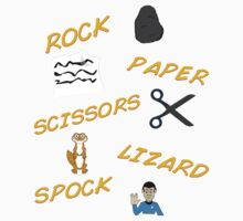 Rock, Paper, Scissors, Lizard, Spock! by shannogfx