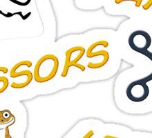 Rock, Paper, Scissors, Lizard, Spock! Sticker