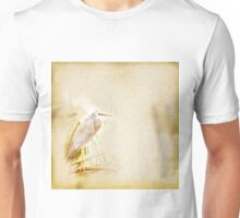 Antique look White Faced Blue Heron Unisex T-Shirt