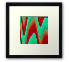 Plaster waves Framed Print