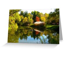 October mirror Greeting Card