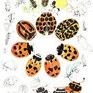 Lady Bug circle work by melhillswildart