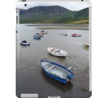 Boats and hills from the harbour wall at Trefor, Llyn, North Wales iPad Case/Skin