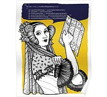 Ada Lovelace code design Poster