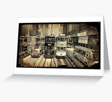 Hong Kong trams Greeting Card