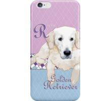 R is for (Golden) Retriever iPhone Case/Skin