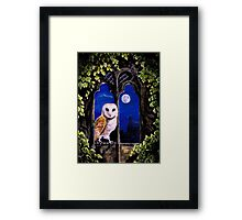 The Owl comes silent Framed Print
