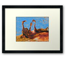 Three Rusty Geese Framed Print