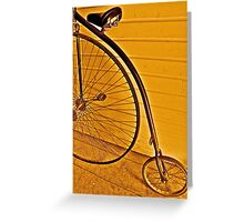 Penny - farthing Greeting Card