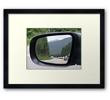 Side Mirror View Framed Print