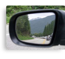 Side Mirror View Canvas Print