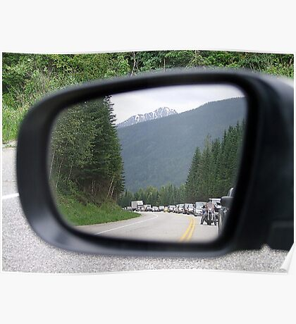 Side Mirror View Poster