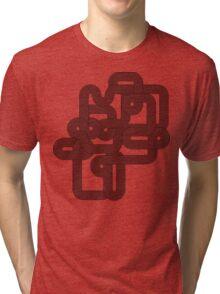 Vintage Vector Wave Tri-blend T-Shirt