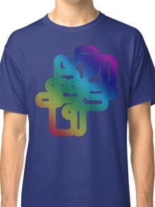 Vintage Rainbow Vector Wave Classic T-Shirt
