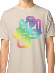 Vintage Rainbow Vector Wave Classic T-Shirt