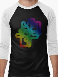 Vintage Rainbow Vector Wave Men's Baseball ¾ T-Shirt