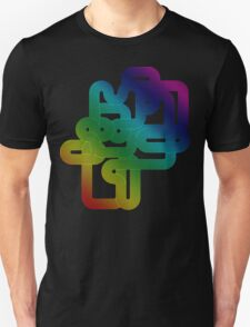 Vintage Rainbow Vector Wave Unisex T-Shirt