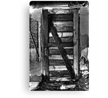 Door with no wall?? Canvas Print