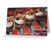 Parisian bakery window Greeting Card