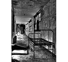 Psych Hall Patient Bed Photographic Print
