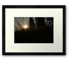 Prairie Sun Framed Print