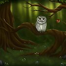 Wise old owl in Forest by Tiarne Pollock
