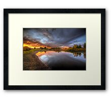 Side Burn Framed Print