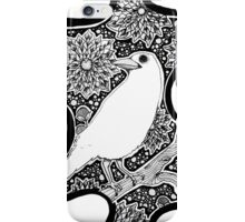 iPhone White Raven iPhone Case/Skin