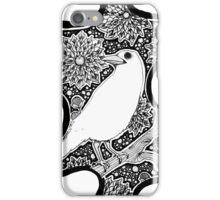 iPhone White Raven iPhone Case/Skin