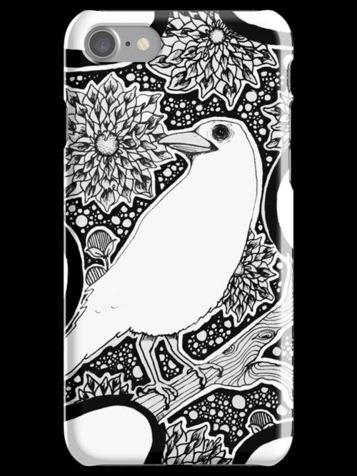 iPhone White Raven by eleveneleven
