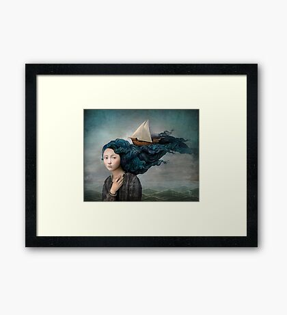 Message from the Sea Framed Print