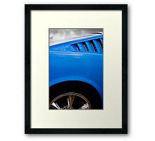 Mustang blues Framed Print