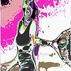 Abstract Female Tennis Player by ChrisButler