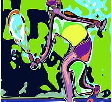 Abstract Female Tennis Player 2 by ChrisButler