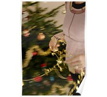 Woman decorating Christmas tree Poster