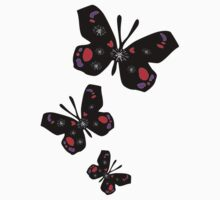 colorful butterfly vector graphic art One Piece - Short Sleeve