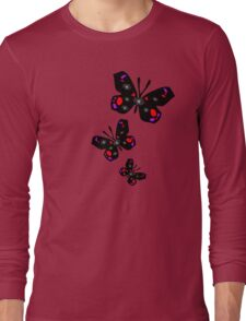 colorful butterfly vector graphic art Long Sleeve T-Shirt