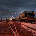 Eerie Train Yard by Krishna Gopalakrishna