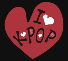 I love k-pop txt heart vector graphic line art Kids Clothes