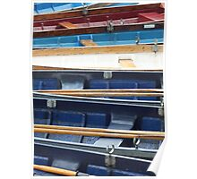 Row of Rowers Poster