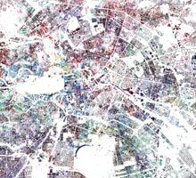 Berlin map watercolor Sticker