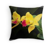 Burana Beauty Orchid - Symbol of Perfection Throw Pillow