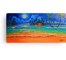 Full Moon Lagoon Canvas Print