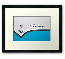 Sunliner in blue Framed Print