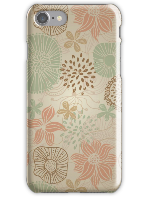 Flowers and Butterflies iPhone Case by Nataliia-Ku