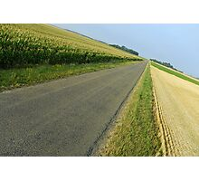 Straight country road Photographic Print