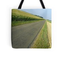 Straight country road Tote Bag