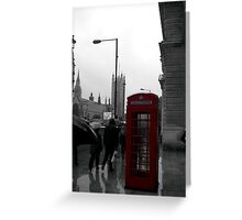 Telephone Box Greeting Card